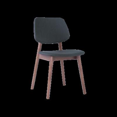 Riley Dining Chair with Cushioned Backrest - Walnut, Dark Grey (Set of 2) - Image 1
