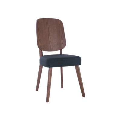 Theodore Dining Chair - Walnut, Dark Grey (Set of 2) - Image 1