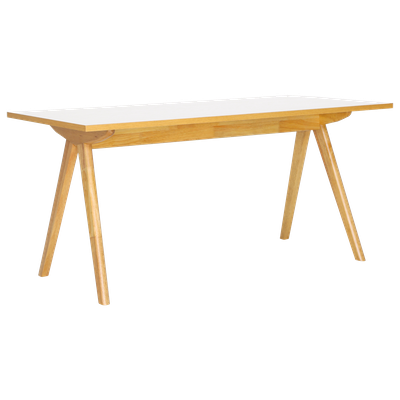 Aden Dining Table 1.6m - Natural, White Laminate - Image 2