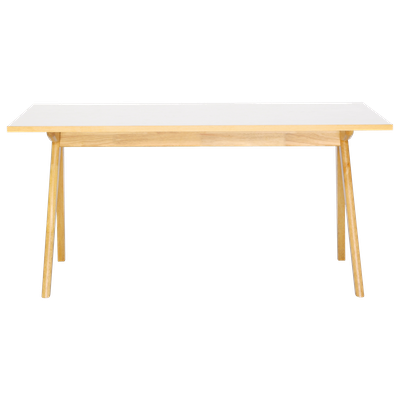 Aden Dining Table 1.6m - Natural, White Laminate - Image 1