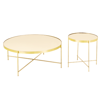 Chloe Round Side Table - Champagne - Image 2