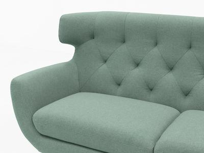 Agatha 3 Seater Sofa - Jade - Image 2