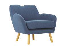 Joanna Lounge Chair  - Midnight Blue - Image 1