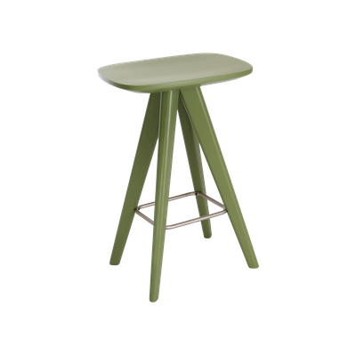 Petite Counter Stool - Green Lacquered - Image 1