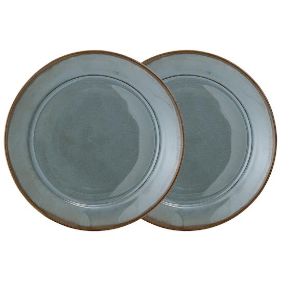 FYND - Haga Large Plate - Green (Set of 2)