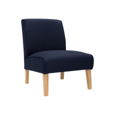 Maya Lounge Chair - Natural, Navy (Set of 2) - Image 2