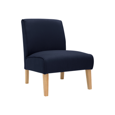 Maya Lounge Chair - Natural, Navy (Set of 2) - Image 1