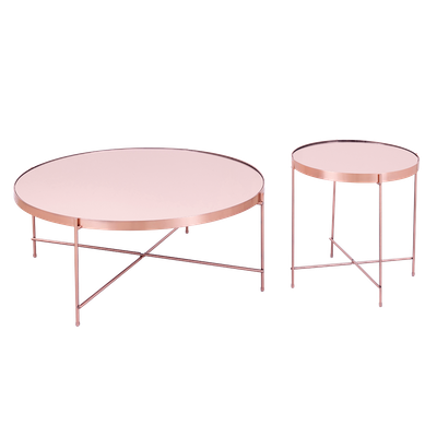 Chloe Round Side Table - Rose Gold - Image 2