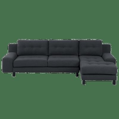 Wyatt L Shape Sofa - Charcoal (Fabric) - Image 2