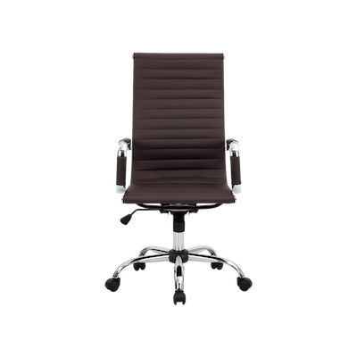 Eames High Back Office Chair - Brown (PU) - Image 1