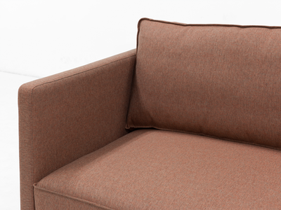 Rexton 3 Seater Sofa - Rosy Brown, Down Feathers - Image 2