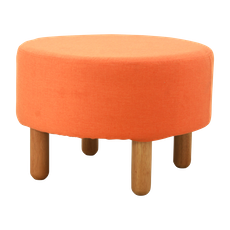 Millie Stool - Natural, Tangerine - Image 1