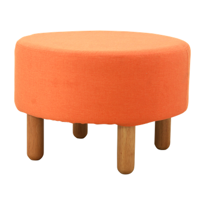 Millie Stool - Natural, Tangerine - Image 1