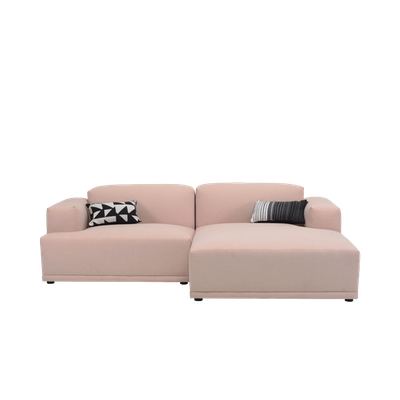 Flex 3 Seater L Shape Sofa - Right Facing Chaise Lounge - Champagne - Image 1