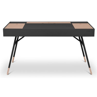 Norse Study Table - Black Ash, Oak - Image 1