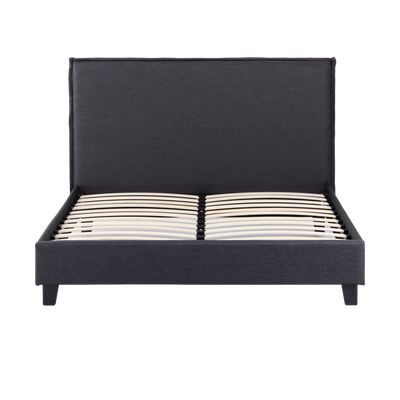 Hank Queen Headboard Bed - Carbon - Image 1