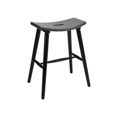 Hollis Counter Stool - Black, Graphite Grey - Image 1