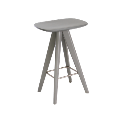 Petite Counter Stool - Grey Lacquered - Image 1